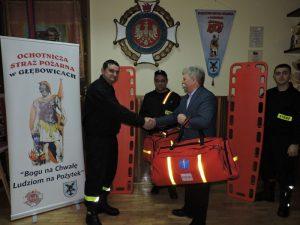 Dotacja Ministra Sprawiedliwości na sprzęt dla strażaków w Głębowicach