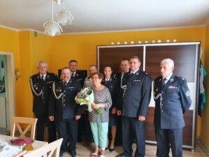 Maria, Stanisław Szczelina Członkowie Honorowi OSP w Głębowicach odznaczeni
